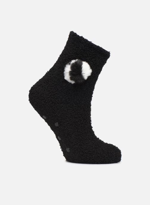 Chaussettes et collants Sarenza Wear Chaussons chaussettes anti-dérapantes à pompon Femme Noir vue détail/paire
