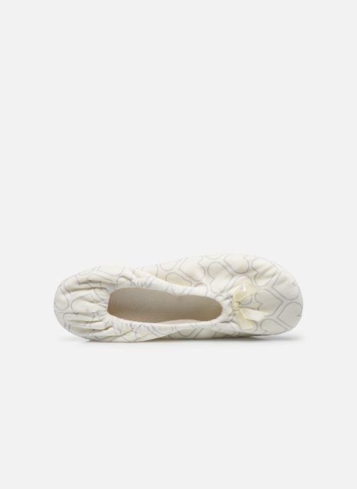 Pantofole Sarenza Wear Chaussons ballerines coeur Femme Bianco immagine sinistra