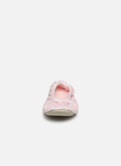 Hausschuhe Sarenza Wear Chaussons femme maison rosa schuhe getragen