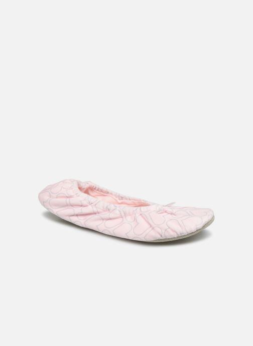 Hausschuhe Sarenza Wear Chaussons femme maison rosa detaillierte ansicht/modell