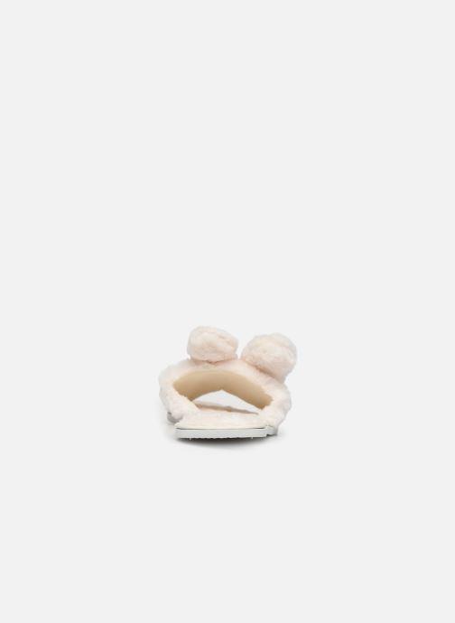 Hausschuhe Sarenza Wear Chaussons oreilles de lapin femme beige ansicht von rechts