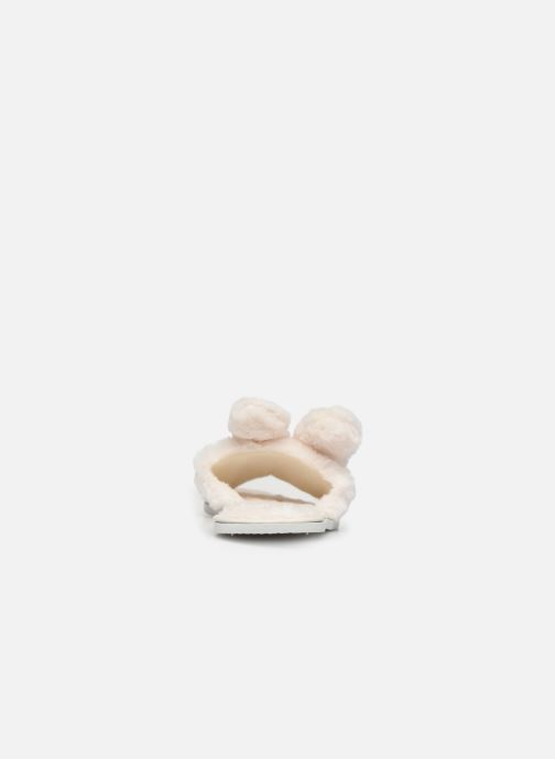 Pantuflas Sarenza Wear Chaussons oreilles de lapin femme Beige vista lateral derecha