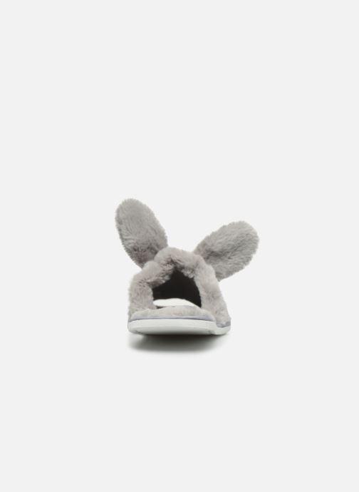 Pantuflas Sarenza Wear Chaussons oreilles de lapin femme Gris vista lateral derecha