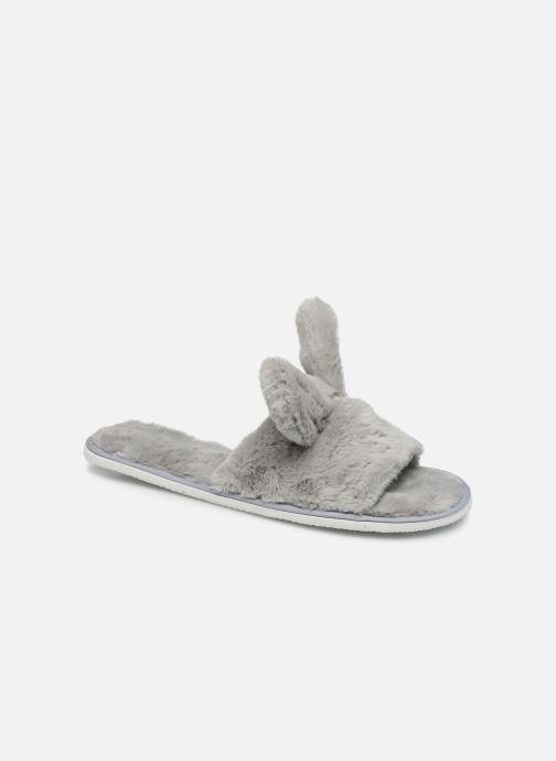 Pantuflas Sarenza Wear Chaussons oreilles de lapin femme Gris vista de detalle / par
