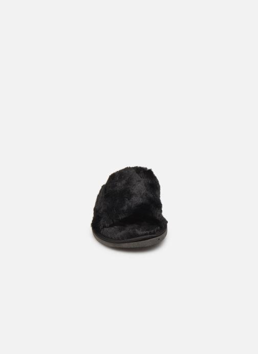 Chaussons Sarenza Wear Mules tout doux femme Noir vue portées chaussures
