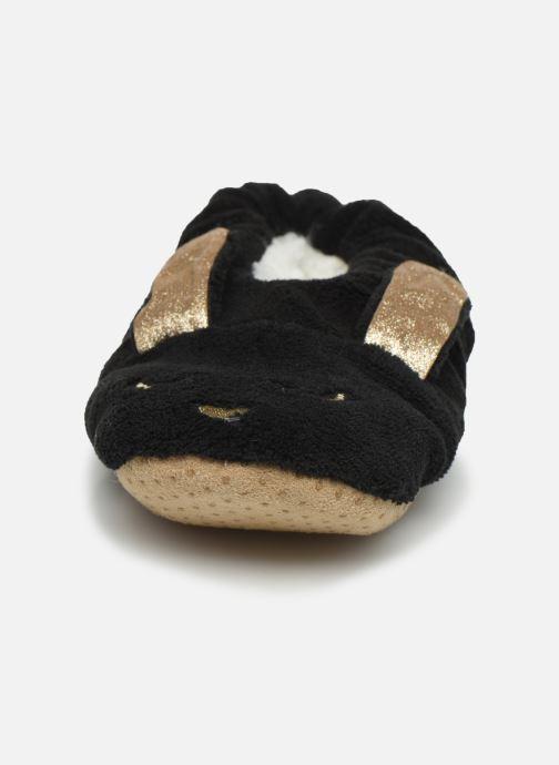 Pantuflas Sarenza Wear Chaussons lapin femme Negro vista del modelo
