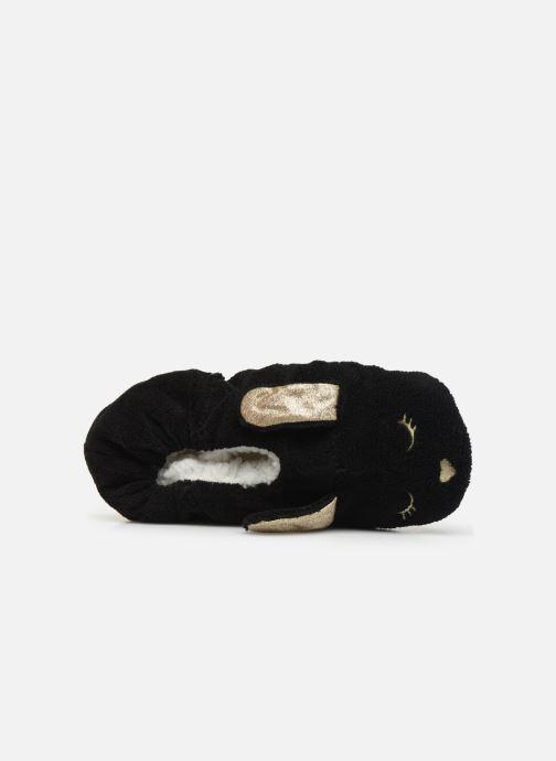 Pantuflas Sarenza Wear Chaussons lapin femme Negro vista lateral izquierda