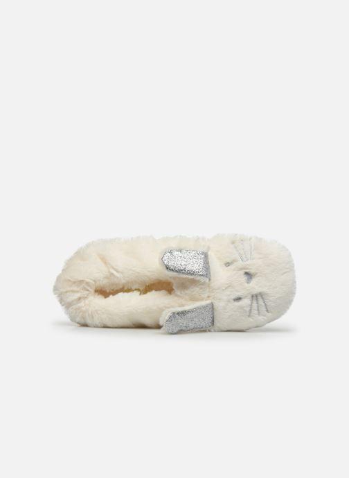Pantuflas Sarenza Wear Chaussons lapin femme Blanco vista lateral izquierda