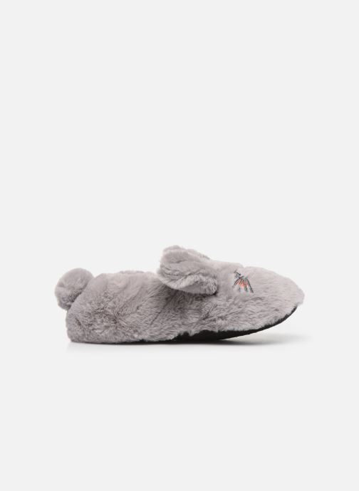 Slippers Sarenza Wear Chaussons animal fille Grey back view
