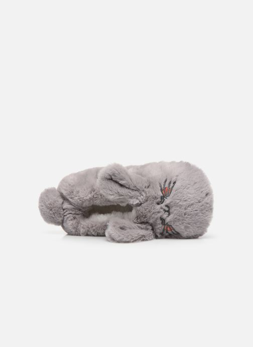 Slippers Sarenza Wear Chaussons animal fille Grey view from the left