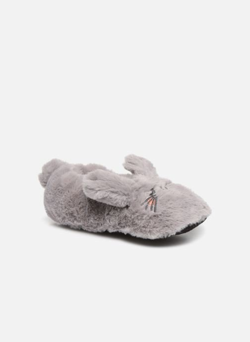 Slippers Sarenza Wear Chaussons animal fille Grey detailed view/ Pair view