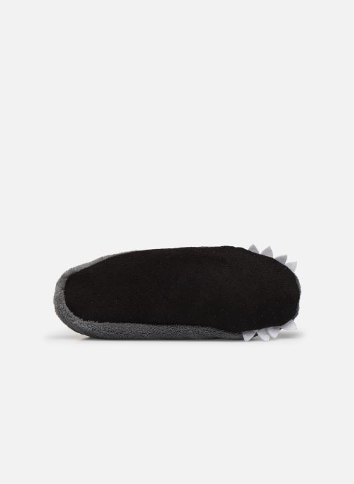Slippers Sarenza Wear Chaussons monstre garcon Grey view from above