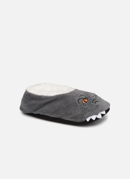 Slippers Sarenza Wear Chaussons monstre garcon Grey detailed view/ Pair view