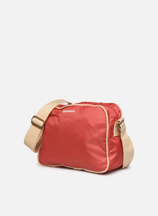 Bolsos de mano Bensimon Small Besace Colorline Rojo vista del modelo