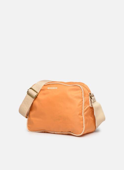 Handtaschen Bensimon Small Besace Colorline orange schuhe getragen