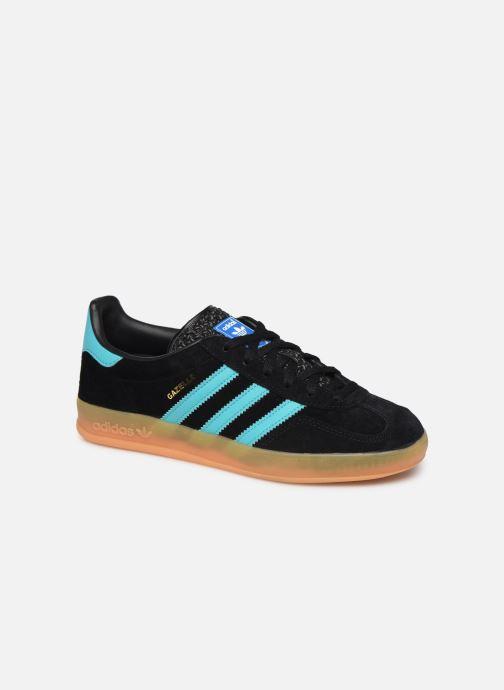 Trainers adidas originals Gazelle Indoor W Blue detailed view/ Pair view