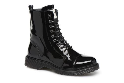 Bottines et boots Bronx RIFKA CHUNKY new Noir vue 3/4