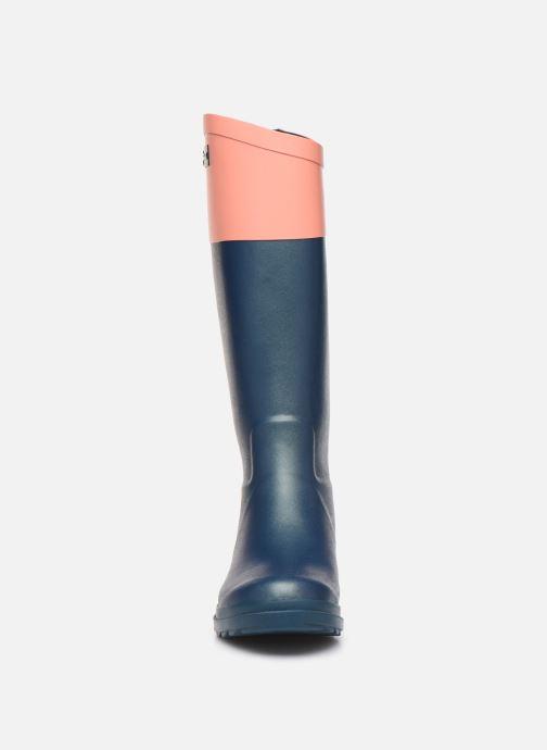 Bottes Aigle Aiglentine Col Bleu vue portées chaussures