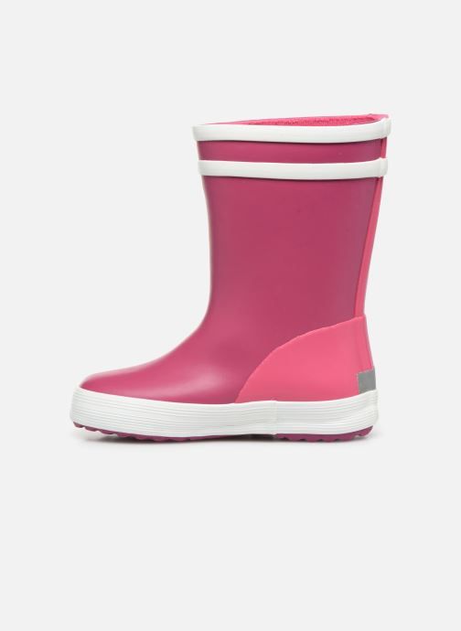 Bottes Aigle Baby Flac Col Rose vue face