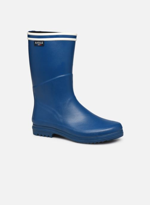 Botas Aigle Chanteboot Signature - Made In France - Azul vista de detalle / par