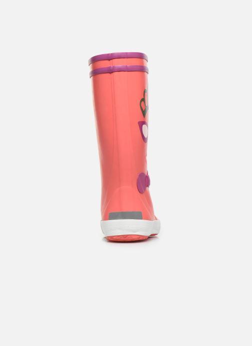 Botas Aigle Lolly Pop Fun Rosa vista lateral derecha