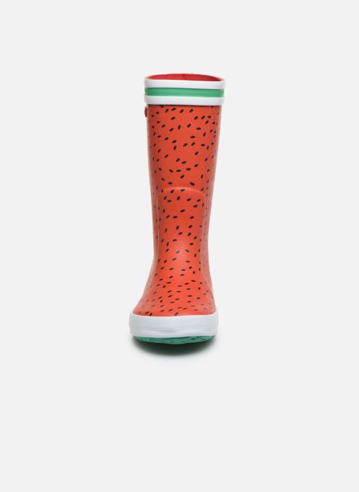 Stivali Aigle Lolly Pop Fun Rosso modello indossato