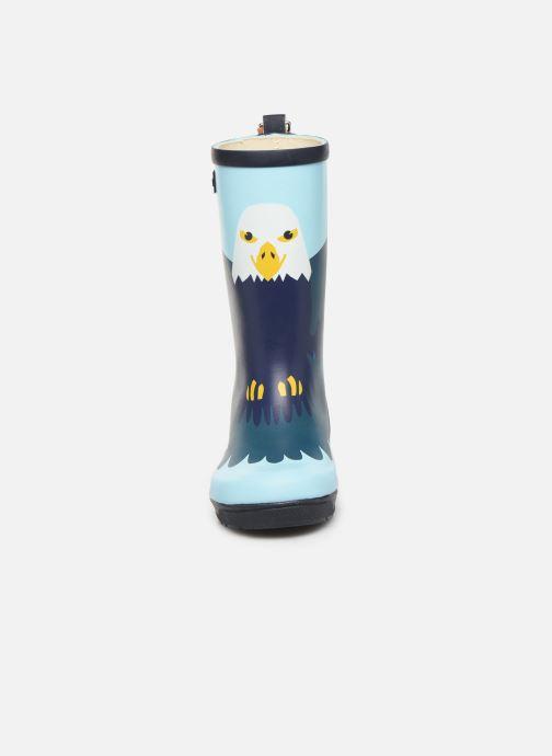 Stiefel Aigle Woodypop Fun blau schuhe getragen