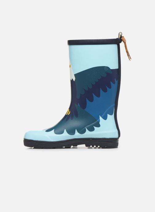 Stiefel Aigle Woodypop Fun blau ansicht von vorne