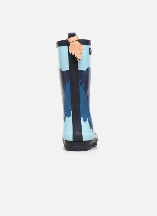 Stiefel Aigle Woodypop Fun blau ansicht von rechts