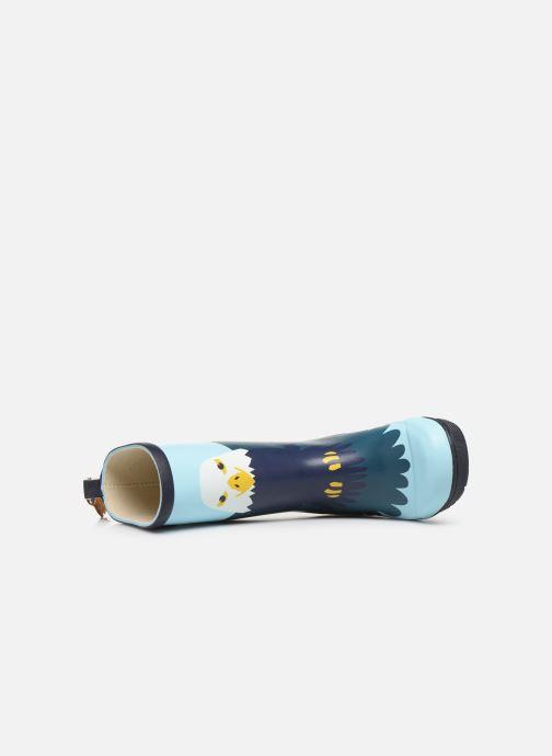 Stiefel Aigle Woodypop Fun blau ansicht von links