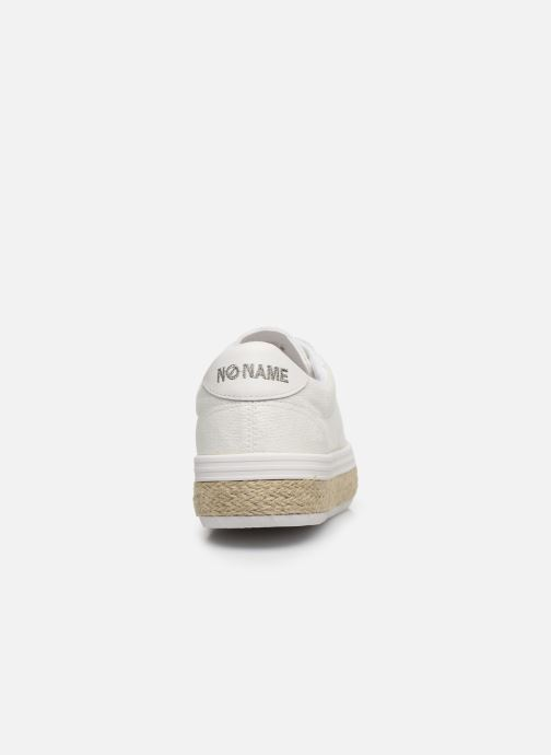 Trainers No Name MALIBU SNEAKER BRAIDY White view from the right
