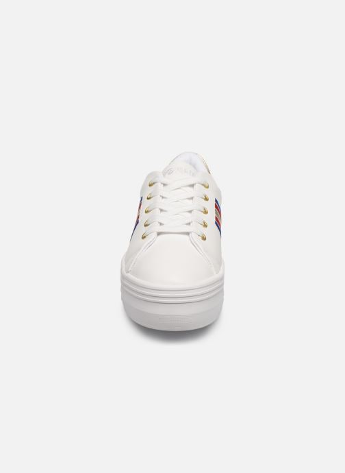 Baskets No Name PLATO M DERBY NAPPA/CRACKLE Blanc vue portées chaussures