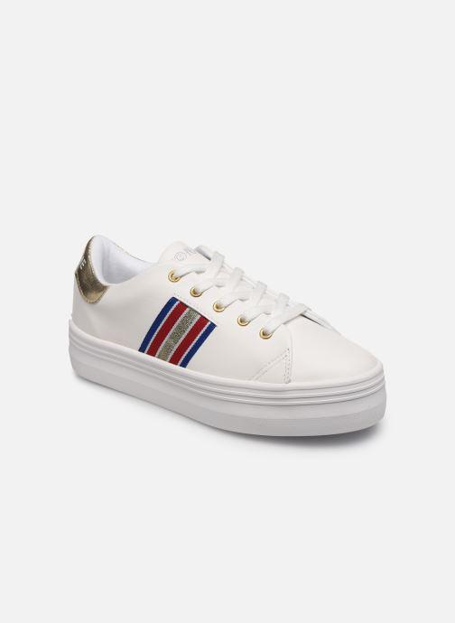 Sneaker No Name PLATO M DERBY NAPPA/CRACKLE weiß detaillierte ansicht/modell