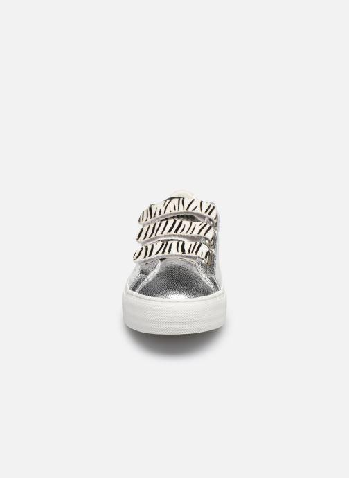 Sneakers No Name ARCADE STRAPS FOREVER/P.TIGER Argento modello indossato
