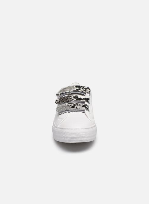 Baskets No Name ARCADE STRAPS NAPPA/P.VIPERA Blanc vue portées chaussures