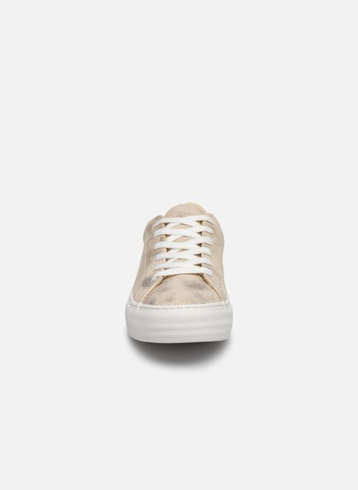 Sneakers No Name ARCADE SNEAKER PUNCH GLOW Oro e bronzo modello indossato