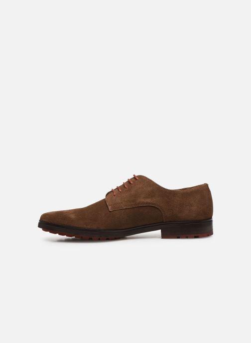 Chaussures à lacets Schmoove NAKO DERBY SUEDE Marron vue face