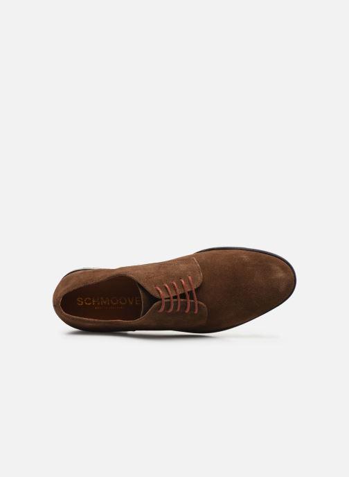 Chaussures à lacets Schmoove NAKO DERBY SUEDE Marron vue gauche