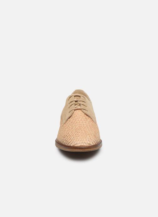 Chaussures à lacets Schmoove Woman CALL NEWLACE RAPHIA/COWSUEDE Beige vue portées chaussures