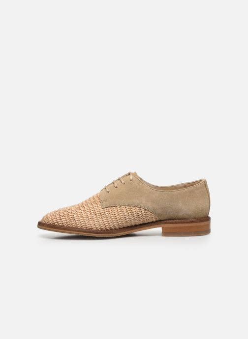 Chaussures à lacets Schmoove Woman CALL NEWLACE RAPHIA/COWSUEDE Beige vue face
