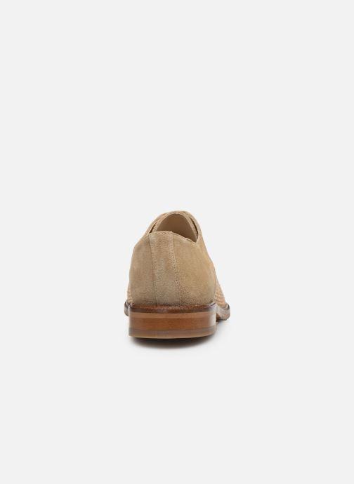 Chaussures à lacets Schmoove Woman CALL NEWLACE RAPHIA/COWSUEDE Beige vue droite