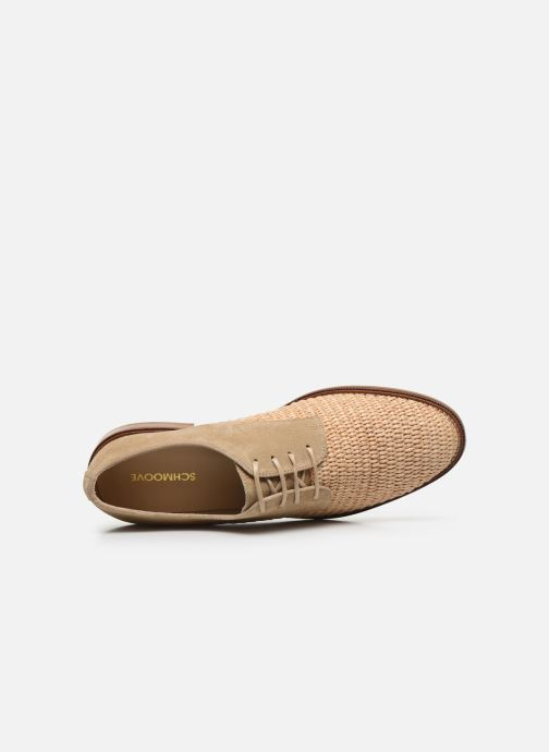 Chaussures à lacets Schmoove Woman CALL NEWLACE RAPHIA/COWSUEDE Beige vue gauche