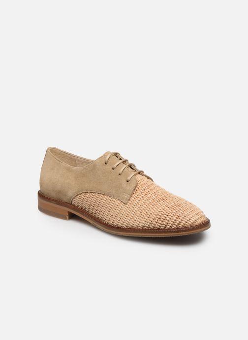 Chaussures à lacets Schmoove Woman CALL NEWLACE RAPHIA/COWSUEDE Beige vue détail/paire