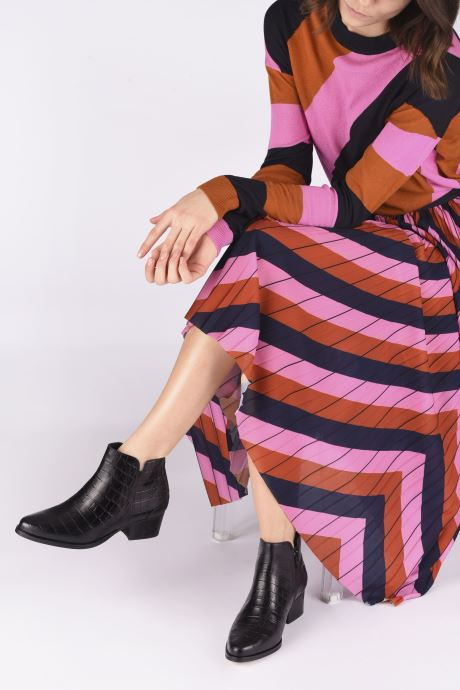 Bottines et boots Schmoove Woman POLLY FOLK PRINT CROCO Noir vue bas / vue portée sac