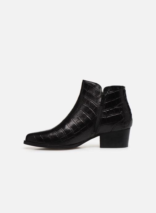 Bottines et boots Schmoove Woman POLLY FOLK PRINT CROCO Noir vue face