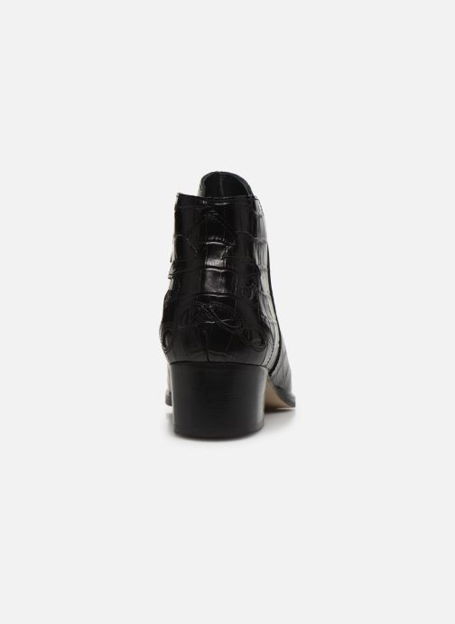 Bottines et boots Schmoove Woman POLLY FOLK PRINT CROCO Noir vue droite
