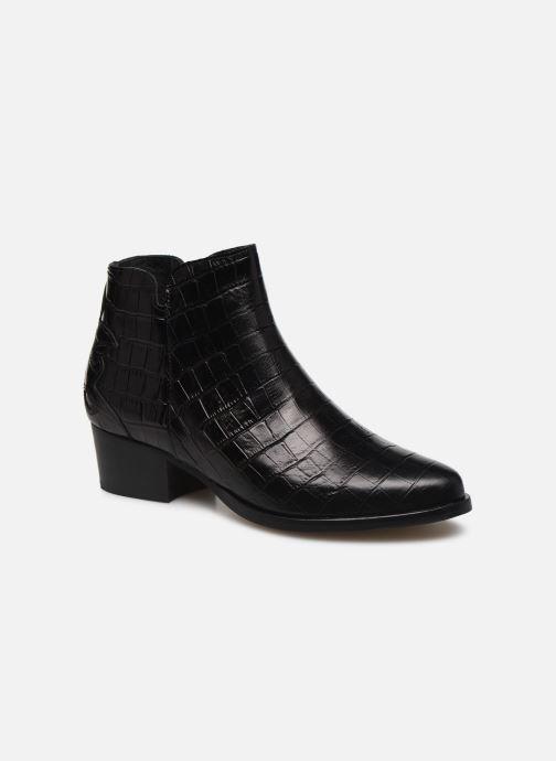 Bottines et boots Schmoove Woman POLLY FOLK PRINT CROCO Noir vue détail/paire