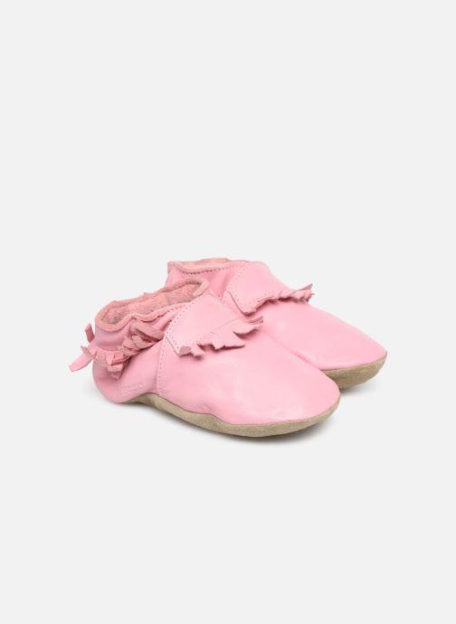Pantuflas Robeez Fringe Rosa vista de detalle / par