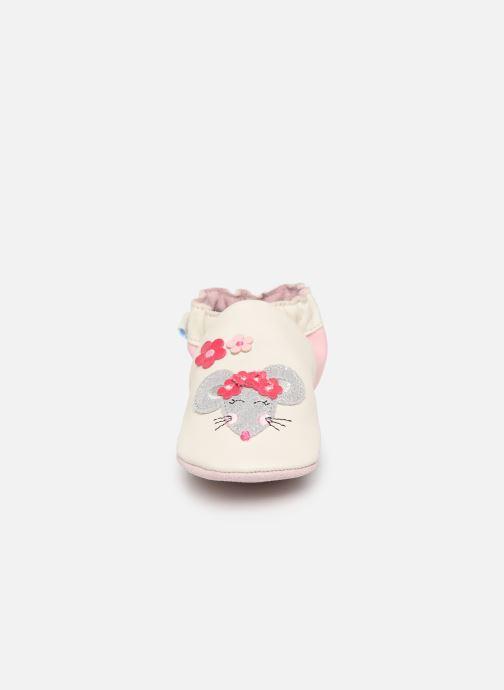 Chaussons Robeez Happy Mouse Blanc vue portées chaussures