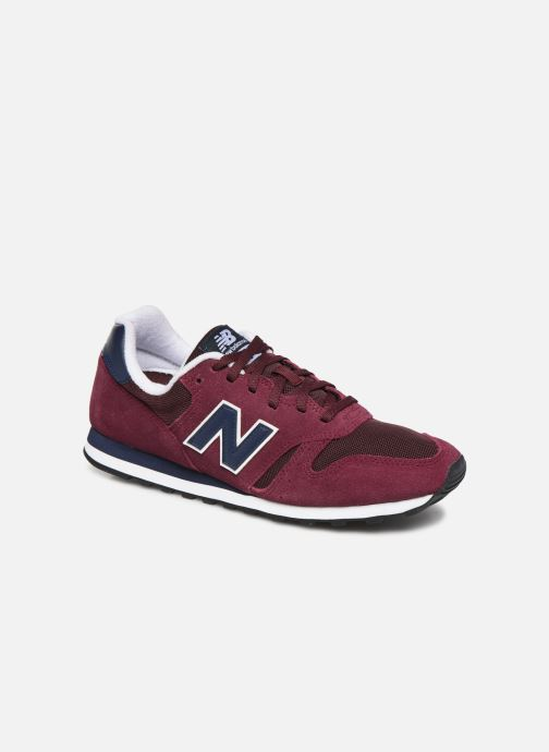 Baskets New Balance ML373 D Bordeaux vue détail/paire